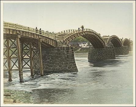 Kintaibashi at Iwakuni (1880s)