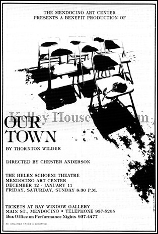 Poster for the 1981 production of Our Town. Graphic from the archives of the Kelley House Museum.