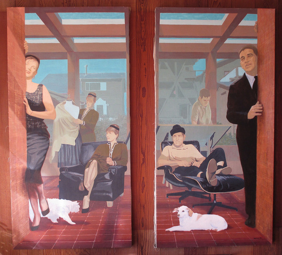 Multiple portrait of Jennie and Bill Zacha by Charles Marchant Stevenson (1964) Acrylic on canvas.