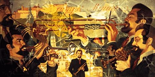 Trumpet Minuet by Charles Marchant Stevenson (1972). Acrylic. SKU: CS197201