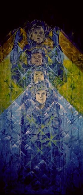 Aunt Betty Goes to Heaven by Charles Marchant Stevenson (1972). Acrylic. SKU: CS197220