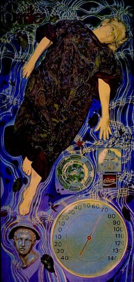 Joy Osburn by Charles Marchant Stevenson (1976). Acrylic on canvas on wood panel. SKU: CS197620