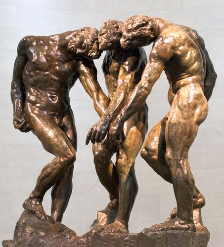 Auguste Rodin's Three Shades (cast bronze), gift of Alma Spreckels, Palace of the Legion of Honor, Fine Arts Museums of San Francisco.