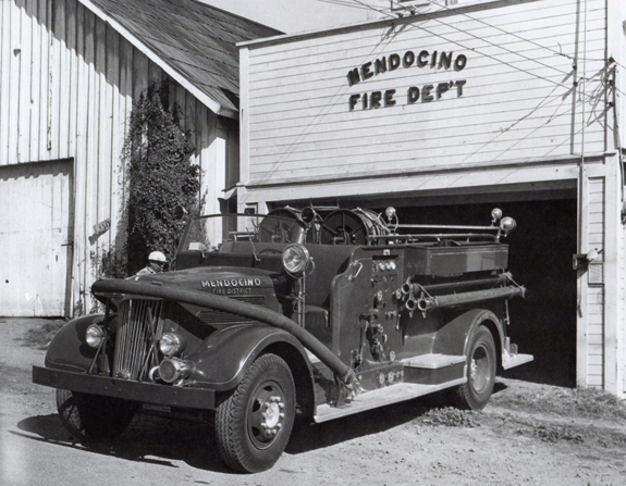"""The White,"" in its original glory in 1948. Photo from Mendocino Volunteer Fire Department: 125 Years of Community Service."