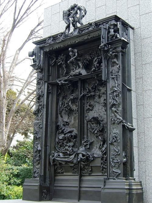 A relatively clear look at the figures, in the round and in relief, on the Gates of Hell.