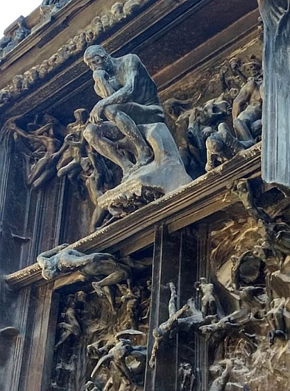 Detail from the Gates of Hell, Rodin Museum, Hotel Biron, Paris.