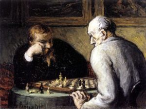 The Chess Players (Honoré Daumier).