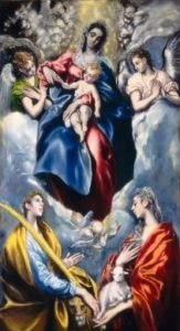 The Virgin of Saint Ines and Saint Tecla (El Greco).