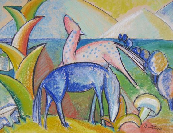 Landscape in Paradise by Dorr Bothwell (1930). Pastel (18.25
