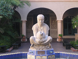 La Tehuana, sculpture by Donal Hord, San Diego (1935).
