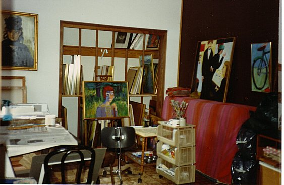 Fran Moyer's studio (1987). Photo: Fran Moyer