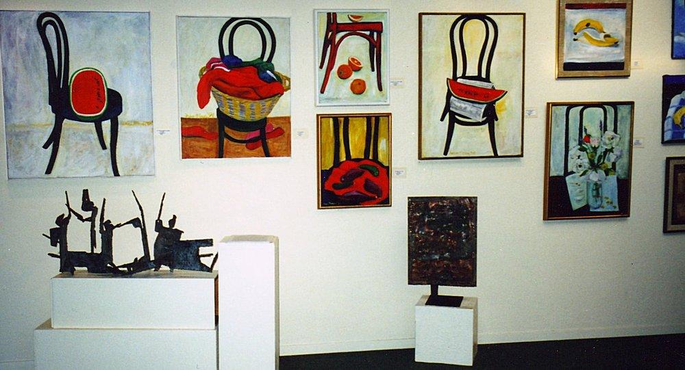 Fran Moyer Retrospective, Mendocino Art Center (2002). Photo: CG Blick
