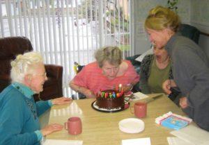 Fran Moyer's birthday party, Sherwood Oaks, Fort Bragg, California, March 9, 2006.
