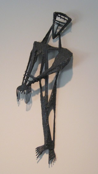 Fran Moyer, Stations of the Cross 01: Jesus is condemned to death. Welded steel (1954). Mounted in the Sanctuary of Saint Anselm's Episcopal Church in Lafayette, California. Photo: CG Blick