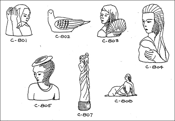 Sketches of the first art ware designs in Gladding McBean's Terra Cotta Specialties line (1937). Style sheet courtesy of James Elliot-Bishop.