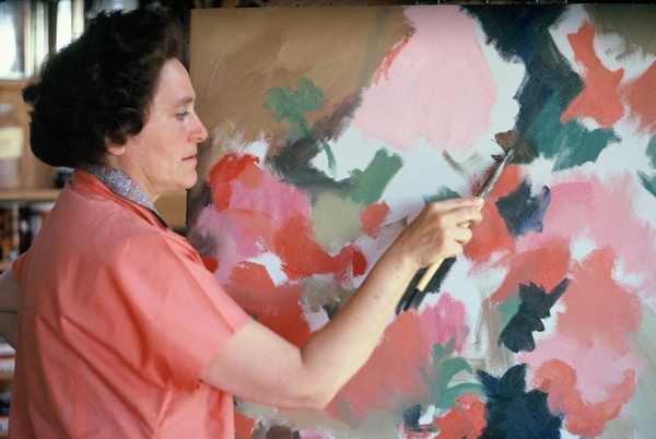 Hilda Pertha in her studio