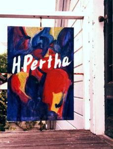 Hilda Pertha's studio, upstairs at 45110 Main Street, Mendocino, California