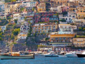 Positano, Italy. Bill Zacha's 1952 vantage today.