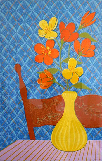 Still Life with Nasturtiums (1967). Oil on canvas. WZ196705