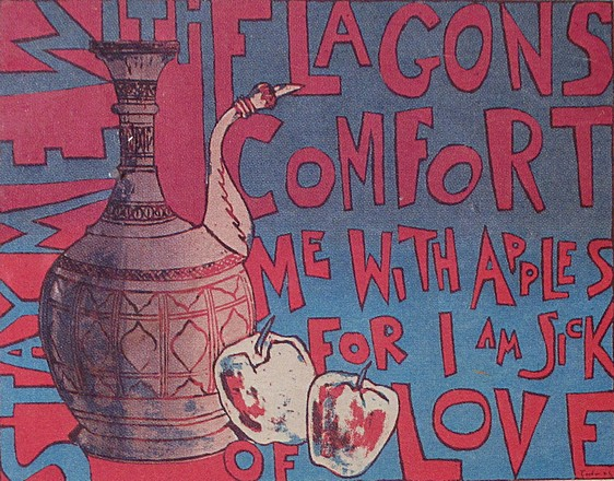 Stay Me with Flagons (1967). Serigraph by Bill Zacha. WZ196715