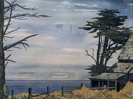 Late Summer, Mendocino Coast (1969). Watercolor by Bill Zacha. WZ196920
