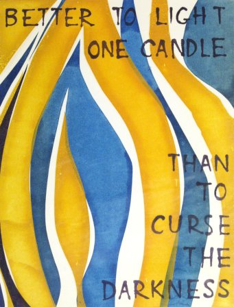 Candle (1971). Serigraph by William Zacha. WZ197101