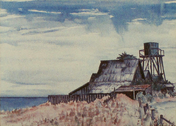 Late Summer, Mendocino (1978). Watercolor by Bill Zacha. Artwork used on 1978 Edmeades Vineyards Cabernet Sauvignon label. WZ197810