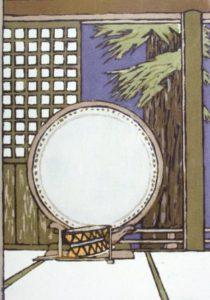 Tsuwano (1985) Serigraph by Bill Zacha. WZ198506*