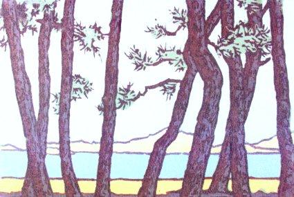 Hagi (1985). Serigraph by William Zacha. WZ198508*