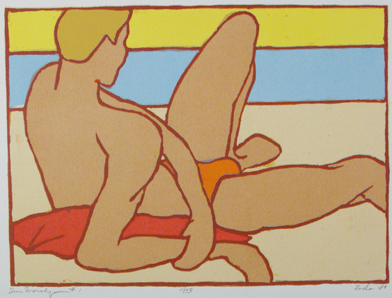 Sun Worshipper (1989). Oil on canvas by William Zacha. WZ198900