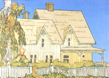 Landmark (1989). Serigraph by Bill Zacha. WZ198902