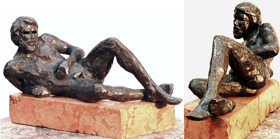 "Odysseus, hollow cast bronze figure by Bill Zacha (1981). Two views. Quantity cast, no more than three. Dimensions, no base, 5.75"" x 12.5 / weight 8 lbs. SKU: WZ198162"