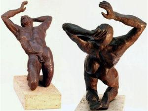Amphion, hollow cast bronze figure by Bill Zacha (before 1981).