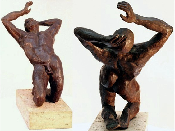 Amphion, hollow cast bronze figure by Bill Zacha (before 1981).