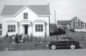 The Albert Brown House in 1959, Bill and Jennie's first home in Mendocino.