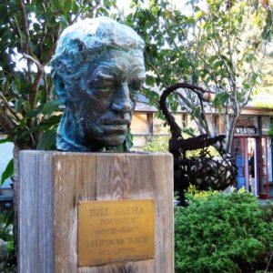 Cast bronze portrait head of Bill Zacha by Miriam Rice (1970). Mendocino Art Center. Photo: CGBlick
