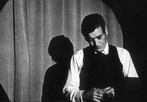Bill Zacha as the Stage Manager in Our Town, by Thornton Wilder, the first production at the Helen Schoeni Theatre (1971).