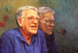 Bill Zacha by Olaf Palm. Oil on canvas (1980).