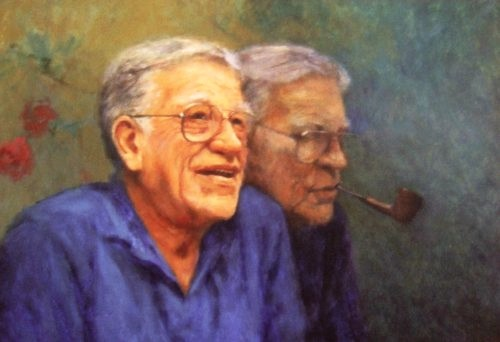 Bill Zacha by Olaf Palm. Oil on canvas (1980).