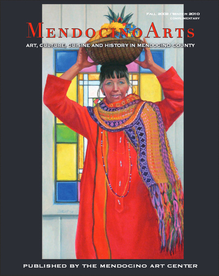 Jennie Zacha on the cover of Mendocino Arts (Fall 2009/Winter 2010). Portrait by Dorr Bothwell (1980).