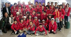 Miasa-Omichi students and artists at SFO, returning home after a visit to Mendocino. Photo: MSCA (2010)