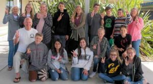 Mendocino students and artists leaving for Miasa-Omichi, participants in the annual Sister City exchange. Photo: The Mendocino Beacon (2017)