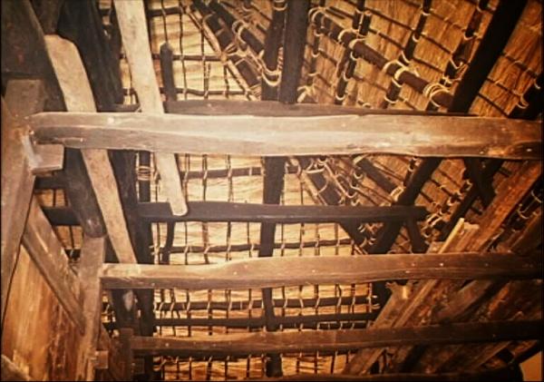 Miasa Hemp House rafters